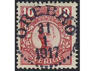 Sweden. Facit 82 used , 10 öre red. EXCELLENT cancellation ÖREBRO 31.1.1917.