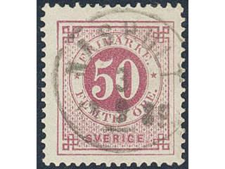 Sweden. Facit 48c used , 50 öre violet-carmine. EXCELLENT cancellation NÄSHULT 3.9.1889. …