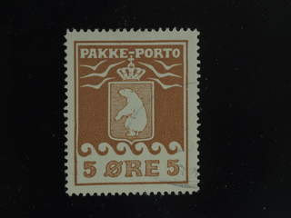Denmark Greenland. Parcel Facit P6 used , 1918 Thiele II 5 øre brown. Nice copy with …