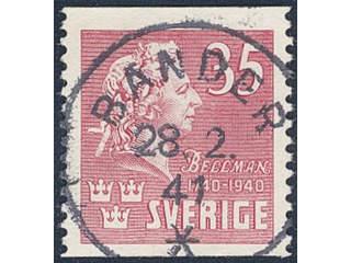 Sweden. Facit 325 used , 1940 Carl Michael Bellman 35 öre carmine-rose. EXCELLENT …