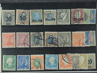 Iceland. Used 1902–38. All different, e.g. F 101-103, 107v, 111, 122v, 137, 154, 156, …
