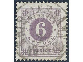 Sweden. Facit 31d used , 6 öre dark lilac. EXCELLENT cancellation KRISTINEHAMN 26.8.1880.