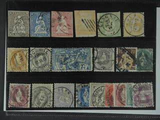 Switzerland. Used 1854–1908. All different, e.g. Mi 13-17 II, 56, 64, 68, 73, 77, 100, …