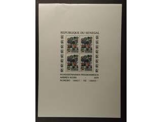 Senegal. Michel 705–07 ★★ , 1979 Art on Stamps souvenir sheets 34-36 (3). Small damages …
