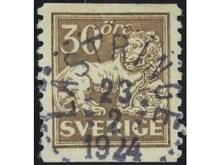 Sweden. Facit 148A used , 30 öre brown. EXCELLENT cancellation LÄSTRINGE 23.2.1924. A …