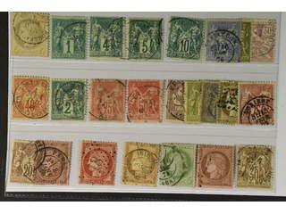 France. Used 1871–1886. All different, e.g. Mi 47, 56 I, 58-60 I, 63 I, 65 I, 57 II, 66 …