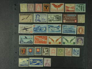 Switzerland. ★ 1862–1946. All different, e.g. Mi 28, 60, 108, 116, 233-34x, 254-55, 394, …