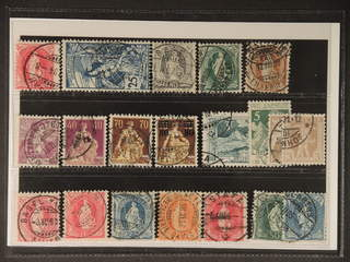 Switzerland. Used 1899–1915. All different, e.g. Mi 70D, 73, 77, 92, 94, 100, 101, 108, …