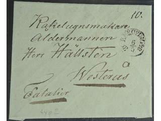 Sweden. C county. ENKÖPING 6.5.1835, arc postmark. Type 2 on cover sent to Västerås.