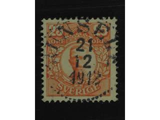 Sweden. Facit 86 used , 25 öre orange. EXCELLENT cancellation JUNSELE 21.12.1912. One …