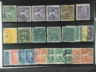 Sweden. Used 1920-36. Small coilstamps, All different, e.g. F 142Acxz, 144Acc, 145E+Ecx, …