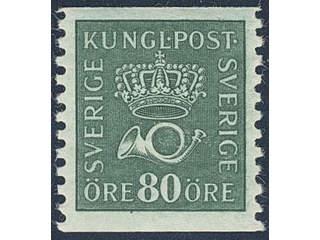 Sweden. Facit 165cx ★★ , 80 öre blue-green with watermark lines. Superb. Signed BG.