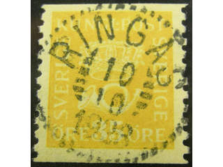 Sweden. Facit 156a used , 35 öre yellow type I. EXCELLENT cancellation RINGÅS 10.10.1923.