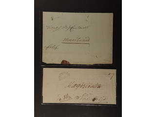 Sweden. A county. STOCKHOLM FR.BR. General mail. type 2 on two covers 1825-1827, of …