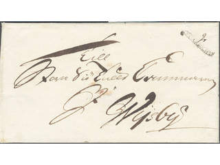Sweden. A county. STOCKHOLM, ribbon postmark. Type 3 on cover sent to Visby. …