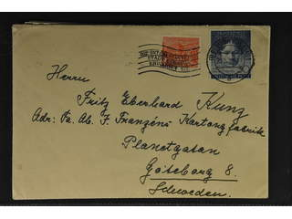 Germany GFR (BRD). Lot covers 1950s. One cover sent to Sweden, plus six souvenir cards …
