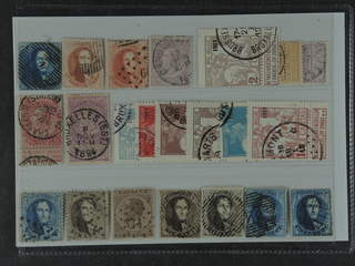 Belgium. Used 1849–1911. All different, e.g. Mi 2, 9 II, 13B, 47, 59-59, 82 II. Mostly …