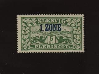 Denmark Schleswig. Facit 27 or Scott 27 ★★ , 1920 Overprint on Lion and Landscape 10 Kr …