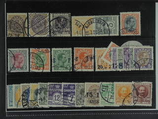 Denmark. Used 1875–1927. All different, e.g. F 36, 44, 67, 132sx5, 144, 162, 164, and …