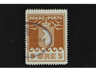 Denmark Greenland. Facit P6 II used , 5öre red-brown, second print. Good - fair …