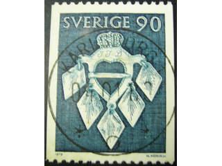 Sweden. Facit 1104 used , 1979 Folk Costumes 90 öre dark green. EXCELLENT cancellation …