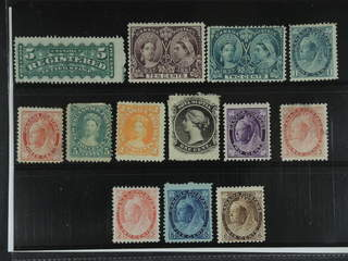 Canada. ★ 1860-1898. All different, e.g. Mi 33(★), 45, 63, 65-68. Mostly good quality. …