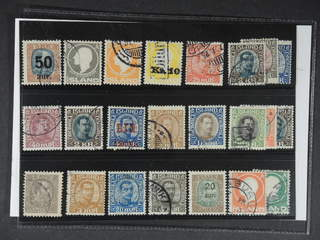 Iceland. Used 1902–33. All different, e.g. F 102, 111, 113, 123v1, 137, 143, 154, 156, …