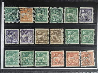 Sweden. Used 1920–34. Standing Lion, all different, for example F 140Ccx, 141bz, …