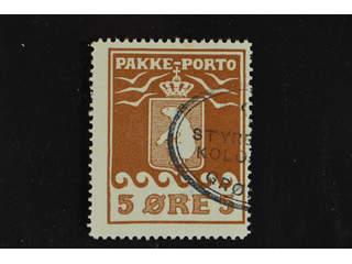 Denmark Greenland. Facit P6 II used , 5 öre red-brown second print. Good centering. Part …