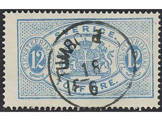Sweden. Facit Tj5, D county. TUMBO-BERGA 18.6.18xx. EXCELLENT cancellation. Postal:400:-
