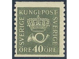 Sweden. Facit 159 ★★ , 40 öre olive-green, type II. SEK900