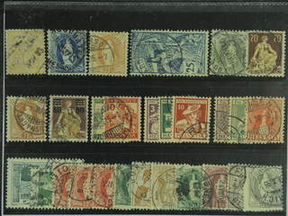 Switzerland. Used 1882–1917. All different, e.g. Mi 56, 62, 64, 73, 77, 94, 108, and …