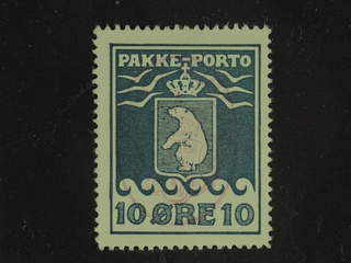 Denmark Greenland. Facit P13 used , 10 øre green blue. Good centering. Part of red pmk.