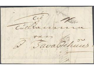 """Sweden. A county. STOCKHOLM, ribbon postmark. Type 6 on letter dated """"Stockholm d. 22 …"""