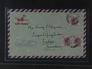 Hong Kong. Michel 153III cover , 3x50 c on air mail cover sent from HONG KONG 21.NO.49 …