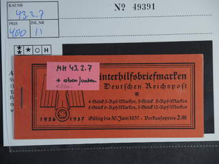 Germany Reich. Booklet Michel MH43.2.7 ★★ , 1936 Modern buildings 2 RM. EUR250