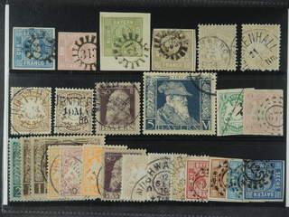 Germany Bavaria. Used 1849–1911. All different, e.g. Mi 2 I, 3, 5, 11, 24, 29, 58-59, 85 …