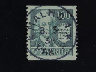 Sweden. Facit 260 used , 1938 Emanuel Swedenborg 100 öre dull green. EXCELLENT …