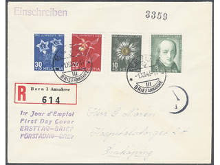 Switzerland. FDC Michel 424–27 , 1943 Pro Juventute. Addressed FDC with traces of …