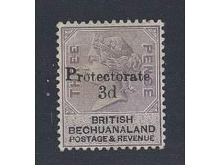 Bechuanaland. Michel 32 ★ , 1888 Queen Victoria Protectorate overprint 3d on 3d dull …
