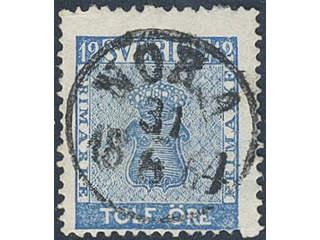 Sweden. Facit 9c2 used , 12 öre blue. EXCELLENT cancellation NORA 31.8.1864. Double …