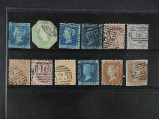 Britain. Used 1841-1865. All different, e.g. Mi 4A, 7(8 corners), 9A, 11B, 13z, 14, 19, …