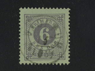 Sweden. Facit 31, H county. WÄDERUM 15.10.1891. EXCELLENT cancelleation with handwritten …