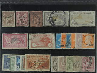 France. Used 1876–1929. All different, e.g. Mi 62 I, 66 II, 74, 99, 133 (½-short …