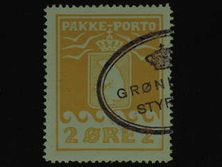 Denmark Greenland. Facit P5 II used , 2 øre yellow. Good centering. Part of oval …