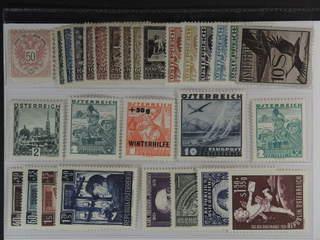Austria. ★ 1883–1954. All different, e.g. Mi 49 (short corner), 433-41, 474-78, 511, …