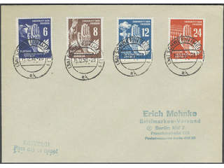 Germany GDR (DDR). FDC Michel 276–79 , 1950 Peace-day SET (4). EUR350
