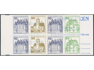 Germany GFR (BRD). Booklet Michel MH11ec ★★ , 1980 Castels and Palaces 10+30+10+50pf …