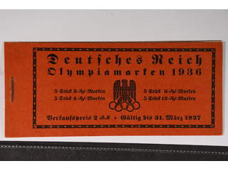 Germany Reich. Booklet Michel MH42.1 ★★ , 1936 Olympic Games 2 R.M. without diagonal …