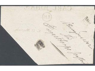 """Sweden. Crown post. Two crown marks on announcement dated """"Stockholm 14 April 1832"""" sent …"""